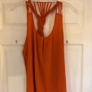 Naked Zebra orange tank blouse
